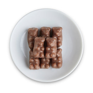 Chocolate covered Gummy Bears - Edelweiss Chocolates Gourmet Premium Milk Dark Chocolate Gift Los Angeles Beverly Hills Handmade Handcrafted Candy
