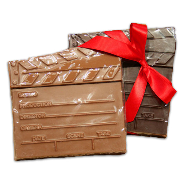 Chocolate Clapboard - Edelweiss Chocolates Gourmet Premium Milk Dark Chocolate Gift Los Angeles Beverly Hills Handmade Handcrafted Candy
