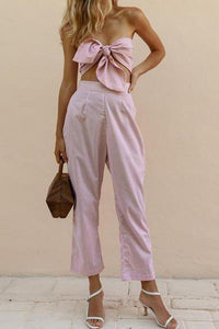 Knotted Wrapped Trousers Set