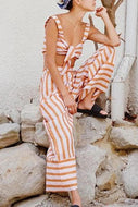 Sling Knotted Navel Pants Suit