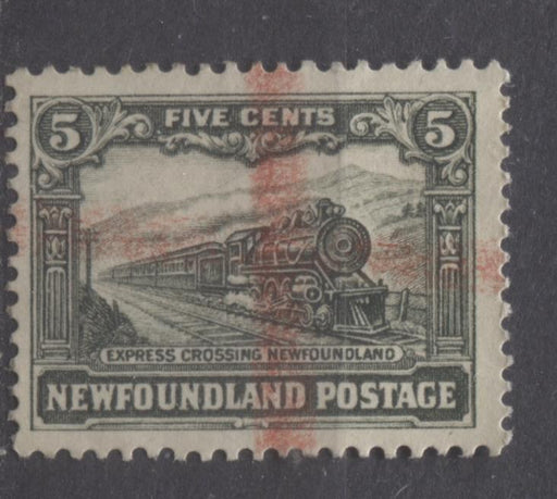 Newfoundland #167 (SG#183) 5c Slate Green 1929 Publicity Re-Engraved Comb Perf.13.6 x 13.8 F-65 Used Brixton Chrome
