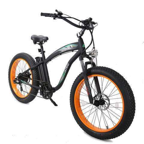 Ecotric Hammer 48V Electric Fat Tire Beach Snow BikeBeach CruiserEcotricRelax And Ride Bikes