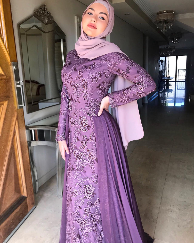SAHAR PURPLE DRESS