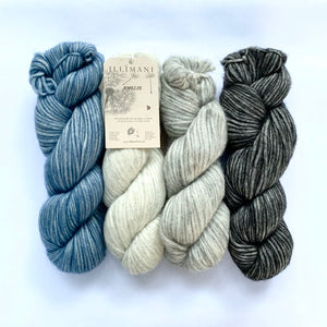 Illimani's Amelie Yarn in 4 colours, full skeins