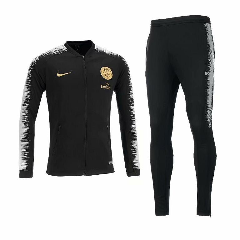 Conjunto de time PSG Black Jacket Suit 2018/19