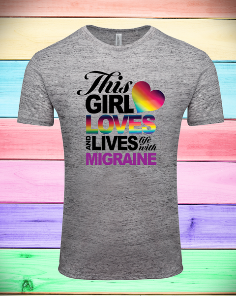 """This Girl Loves and Lives with Migraine"" Unisex Tee 