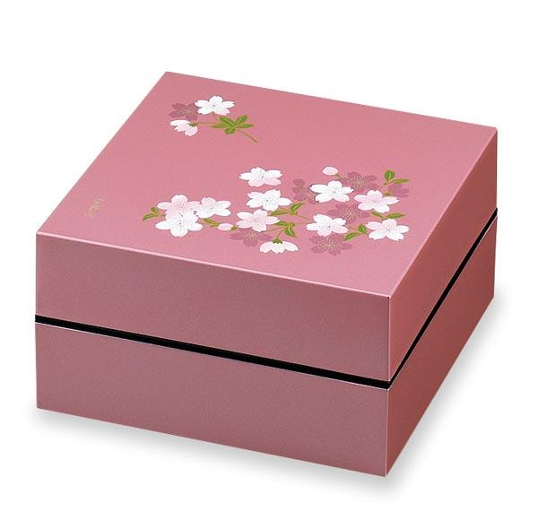 Two-Tier Cherry Blossom Square Bento Box  | Pink