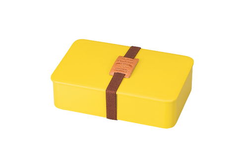 American Vintage One Tier Bento Box Rectangle | Yellow