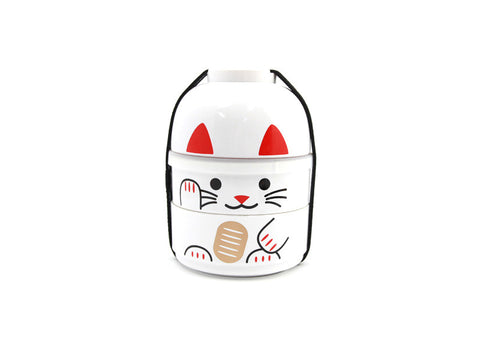 Kokeshi Bento Maneki-Neko White by Hakoya - Bento&con the Bento Boxes specialist from Kyoto