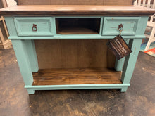 Load image into Gallery viewer, Emily Turquoise Small Console Table