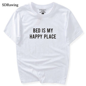 Bed is My Happy Place Tees