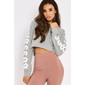 Cropped Short Tracksuit Hoodies