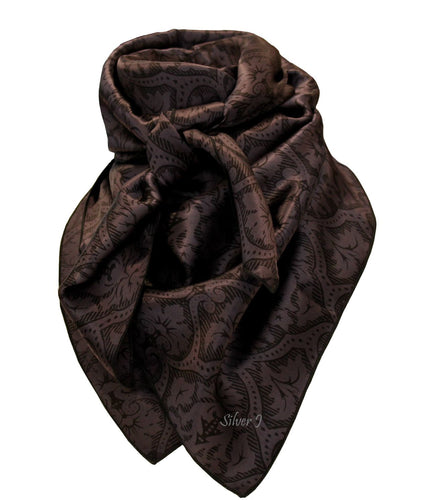 Wild Rag Floral Silk Black and Gray