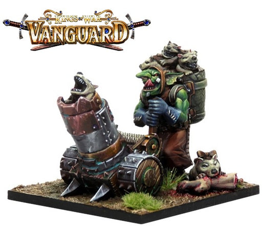 Kings of War Vanguard: Goblin Support Pack: Mawpup Launcher