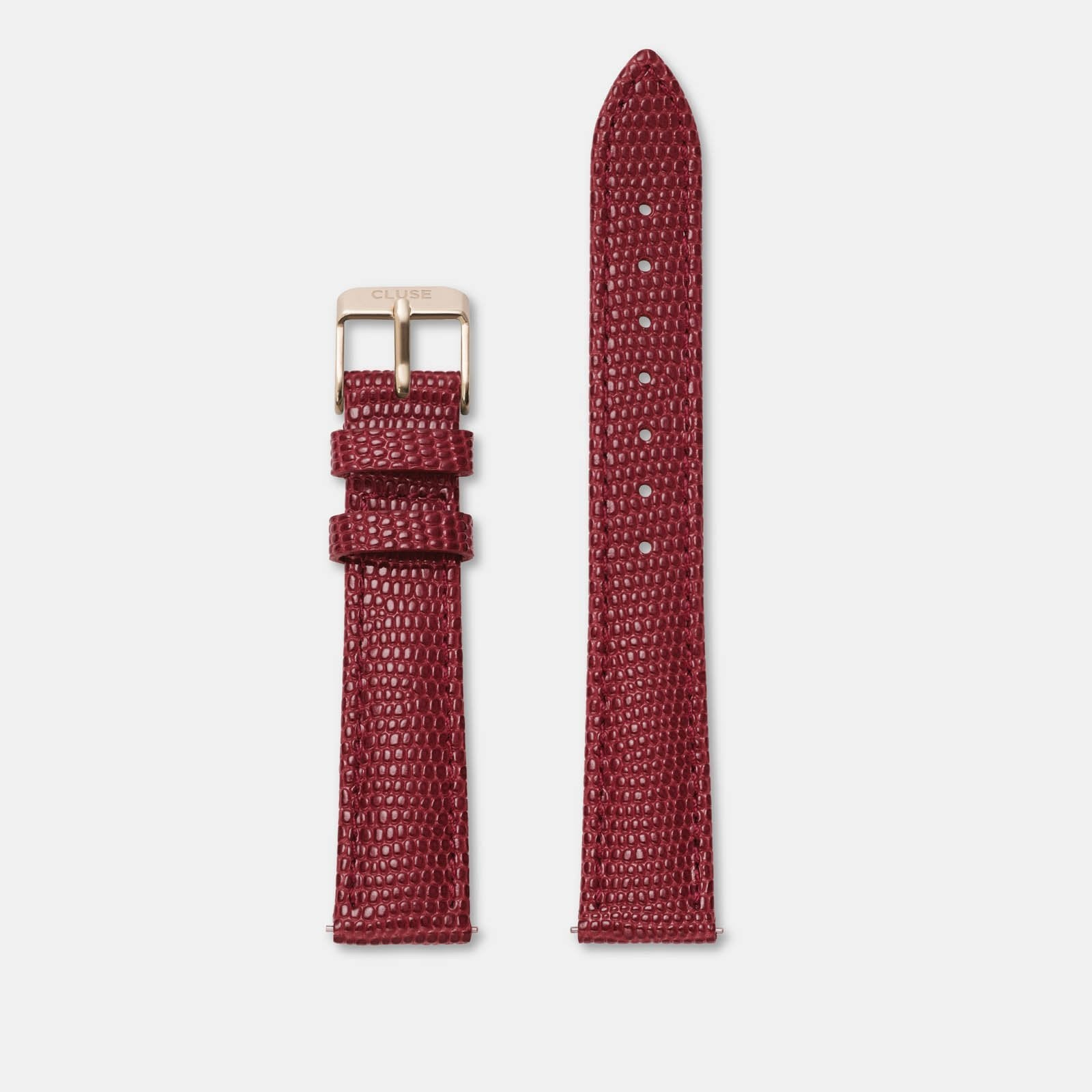 CLUSE 16 mm Strap Deep Red Lizard/Rose Gold CLS383 - Cinturino
