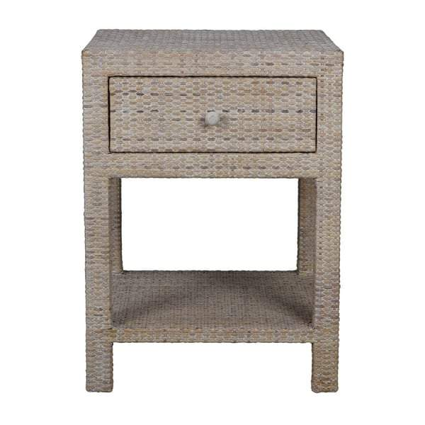 Verandah Natural Rattan Bedside Table