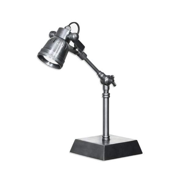 Seattle Desk Lamp Antique Silver Finish