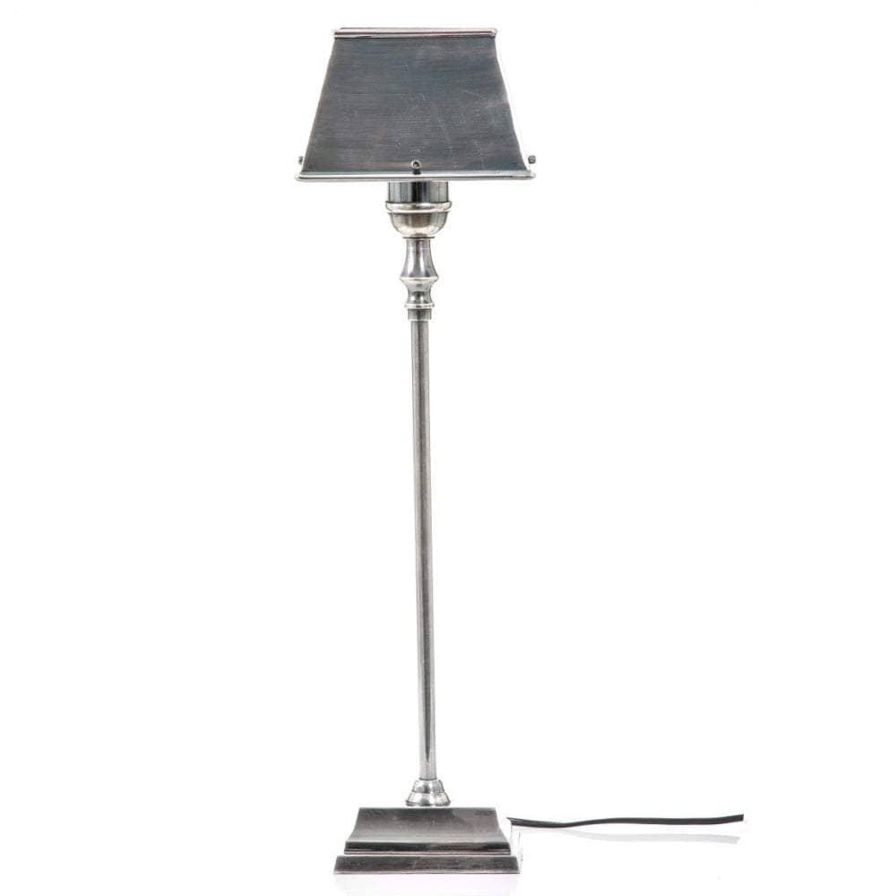 Collin Table Lamp in Antique Silver