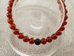 Agate beads - Red and Black - By Janine Jewellery