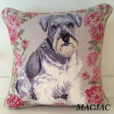 Schnauzer Dog Needlepoint Pillow 14