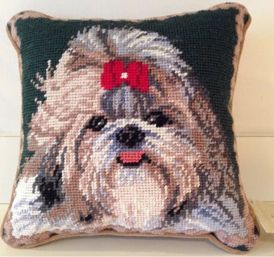 Shih Tzu Dog Needlepoint Pillow 10