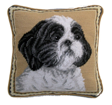 "Shih Tzu Needlepoint Pillow 10""x10"""