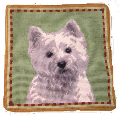 Westie Dog Needlepoint Pillow 10