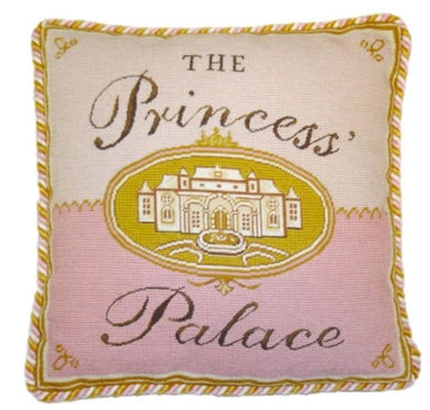 Needlepoint Princess Castle Pillow 17