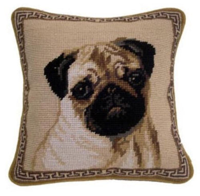 Pug Dog Needlepoint Pillow 10