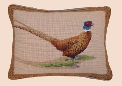 Pheasant Needlepoint Pillow 12