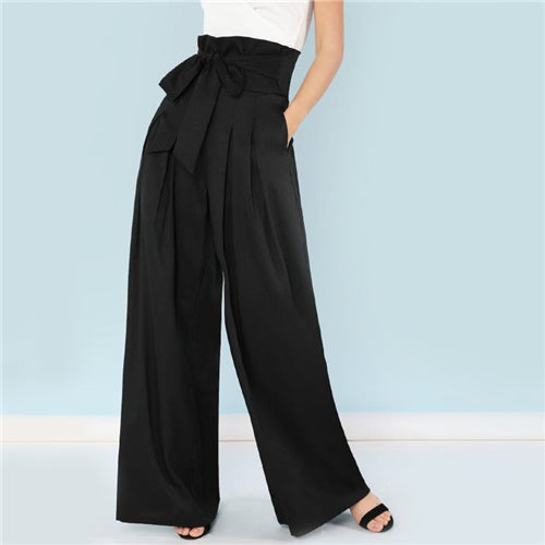Janet Hottest Look Palazzo high waisted Wide Leg Pants