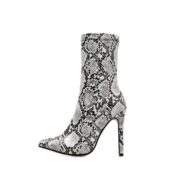 Tina Hottest Snakeskin Ankle Boots this Season