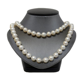 Fresh Water Pearl with diamond roundels necklace custom OVII