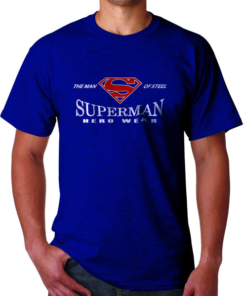 Superman Man Of Steel Hero Wear Logo on Navy Tshirt - TshirtNow.net - 1