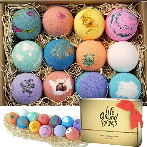 Assorted All-Natural Bath Bombs (Gift Set of 12)