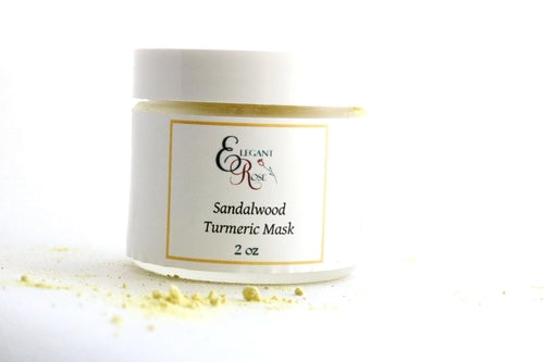 All-Natural Sandalwood & Turmeric Face Mask - Best Acne Treatment