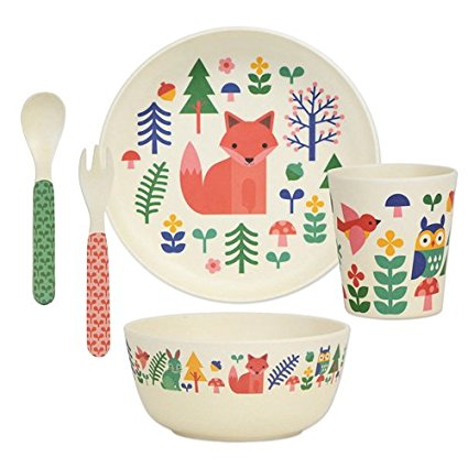 Bamboo Dinner set - forest friends