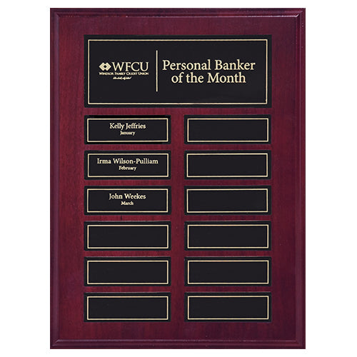Perpetual Plaque w/12 magnetic release plates - 9x12