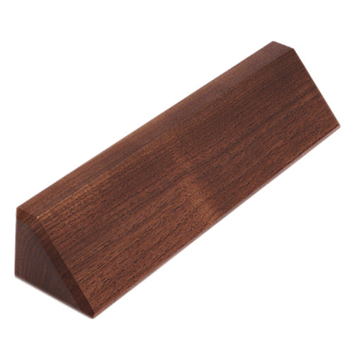 Genuine Walnut Desk Wedge Plaque - 10 1/2""