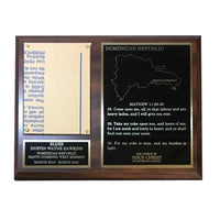 LDS Missionary Plaque -3 Panel w/gold backing
