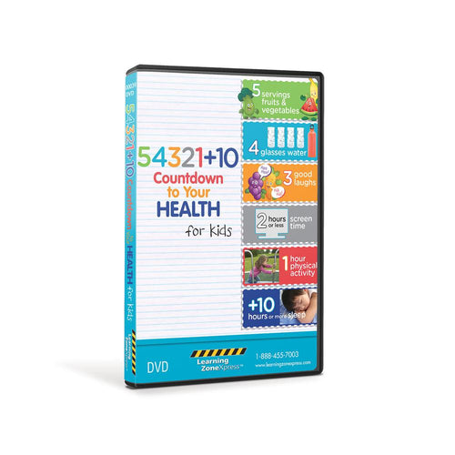 54321+10® Count Down to Your Health for Kids DVD