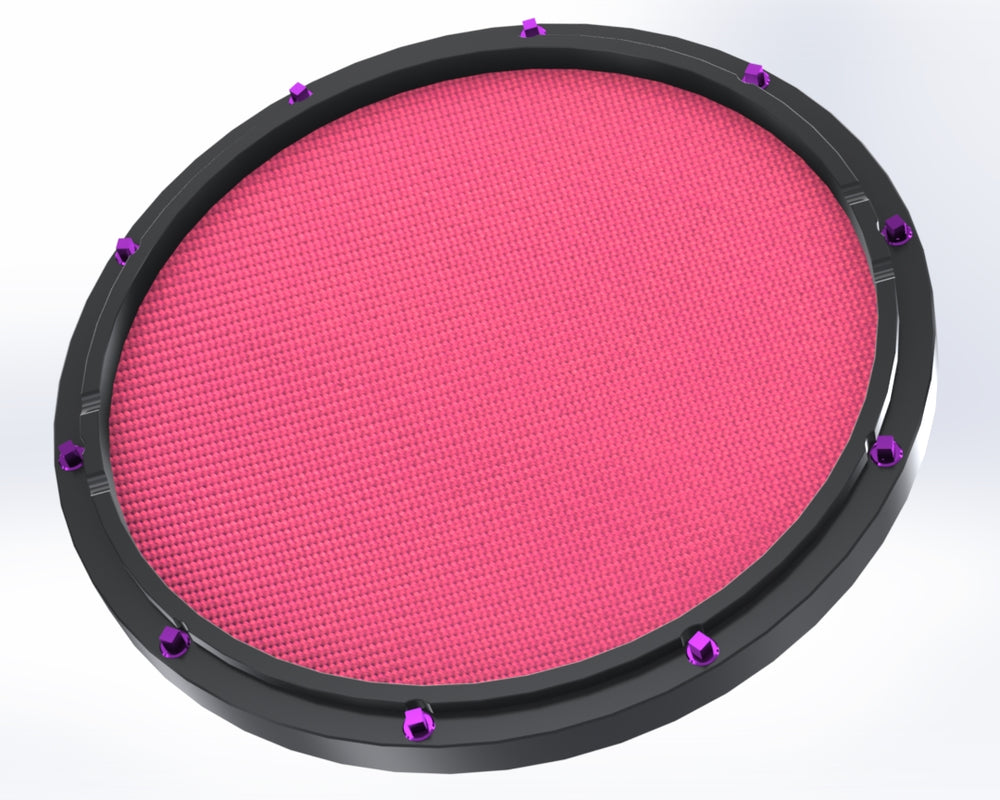 "RCP Drum Company Custom 13"" Black Double Sided Snare Drum Practice Pad Chili Pepper Head"