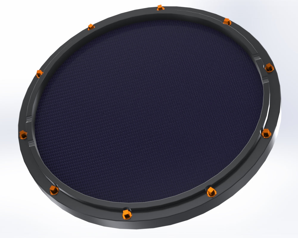 "RCP Drum Company Custom 11"" Black Double Sided Snare Drum Practice Pad Twilight Head"