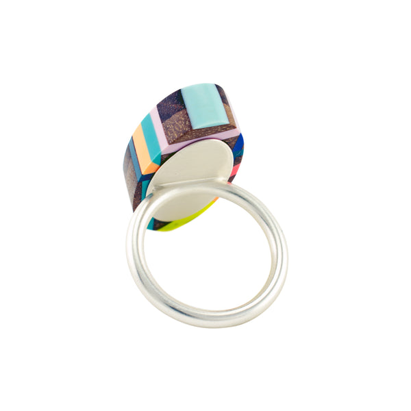 Laura Jaklitsch Jewelry Wood x Polyurethane Tropical Ring Back
