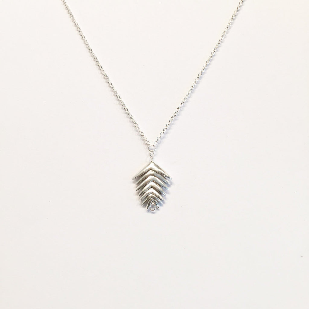 Mountain Brome Necklace with 7 spikelets | Silver , Silver & Gold or Gold