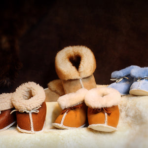 Baby Booties - Shearling Sheepskin Fur Slippers