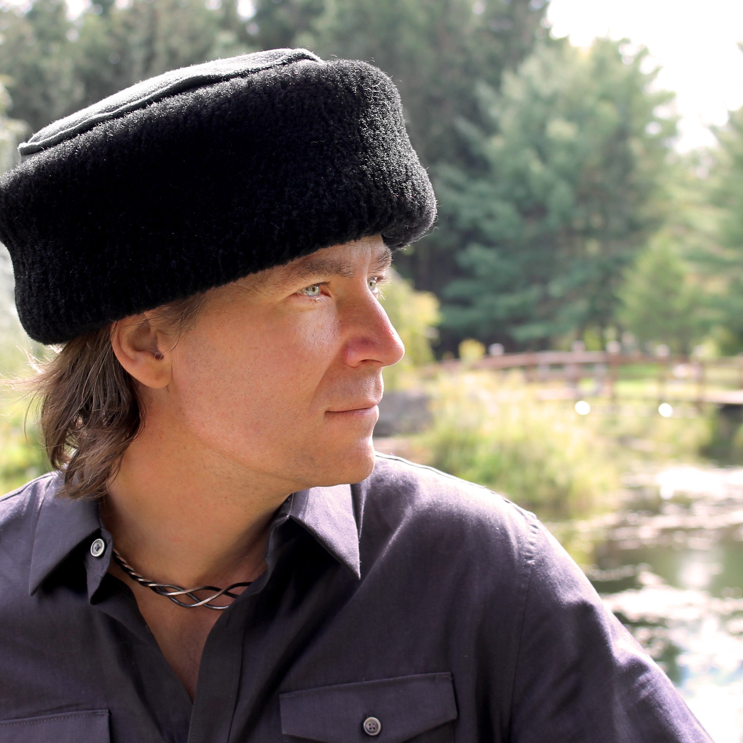 Men's Caryn Sheepskin Fur Hat