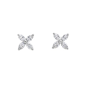 Signature Collection Marquise Diamond Earrings in 18k White Gold