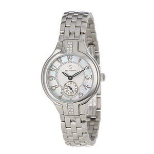 Philip Stein Women's 44SD-FMOP-SS5 Stainless Steel Watch with Diamond Studding and Link Bracelet