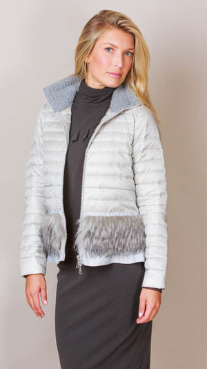 Lightweight Puffer Jacket - Grey